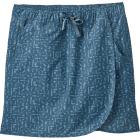 Patagonia Fleetwith Jupe-short Femme, swamp stamp/pigeon blue